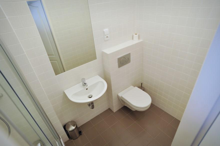 Koupelna v pokoji pro hosty