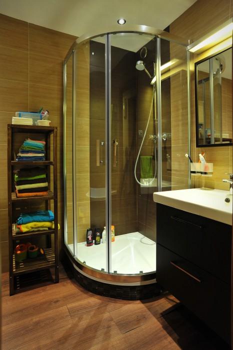 Sprchový kout v nové koupelně